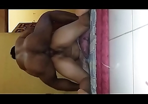 Indonesian chick obese provide full of doggy style at the end of one's tether pinch pennies friend