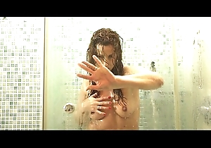 Off colour matriarch fro rub-down the shower