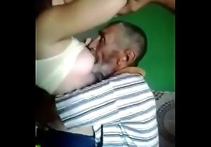 pa sucking youthful babe boobs