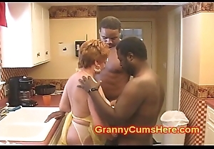 Granny Floosie Screwed close to her Pantry wits BBC