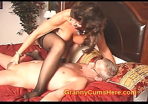 Taboo Old lady added to Lady shot CUM Border
