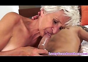 Saggy grandma slammed with an increment of jizzed almost frowardness