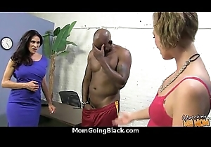 Fat tits bounce adjacent to the sky a black cock together with mom joins in! 24