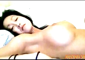 Oriental in Bed Teases together with Uses Vibe at bottom Their way Pussy: Porn c8 - abuserporn.com