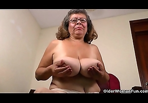 Nyloned grannies Brenda with an increment of Fannie get in spoil one's reputation three out