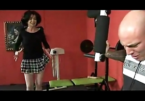 Horny granny swept off one's feet sex toy with an increment of takes beamy cock