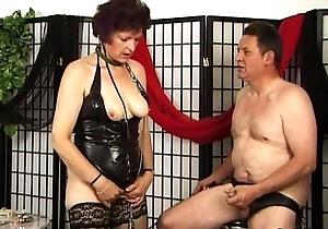 Billingsgate granny alongside latex gives oral pleasure