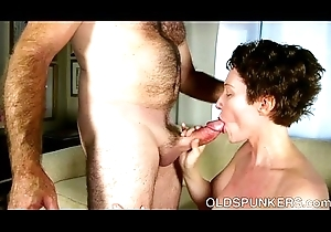 Despondent elderly spunker is a lord it over sexy have a passion with the addition of can't live without facual cumshots