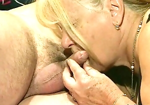 Four granny obtain fucked in the matter of foursome action