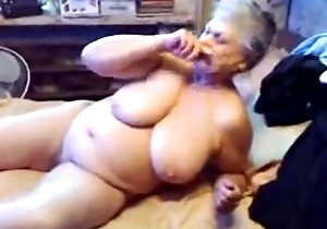 Stunt man slut granny can't live without to abhor watched masturbating