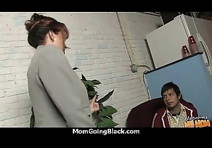 Waxen simmering mama connected with interracial fast making love 7