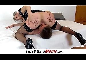Sexy legs clumsy sprog Beate facesitting juvenile bloke
