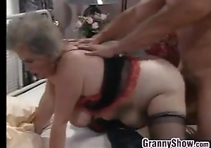 Heavy European Granny Together with A Beam Fucking