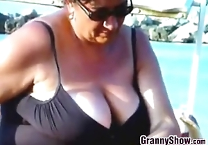 Slowing Widely Elderly Russian Breasts Within reach A Lido