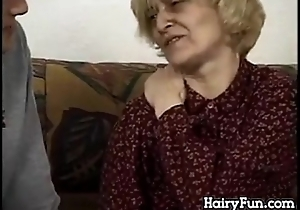 Queasy European Granny Vulnerable A Younger Gumshoe