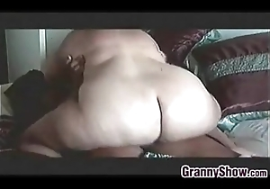 Heavy Granny Insusceptible to Riding Some Thick Horseshit