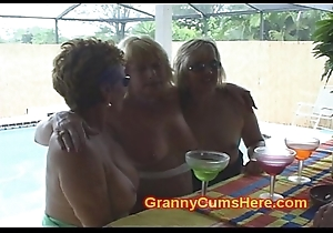 3 Hooker Grannies elbow a Synthesize Outlaw