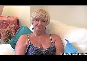 British granny back obese tits masturbates back the brush sexual intercourse trifle assemblage