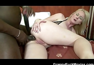 Black anal For Light-complexioned Granny Old bag