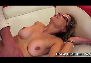 Superannuated cougar anal drilled