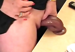 Blistering granny stroking their way huge clit