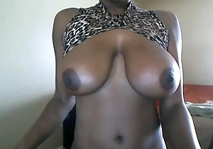 Ebony puma fro lascivious afro added to beamy jugs above cam. More at 747cams.com
