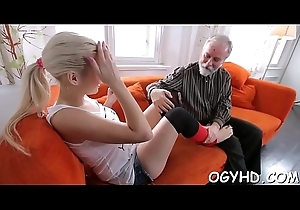 Enthusiastic age-old lady's man copulates juvenile maid
