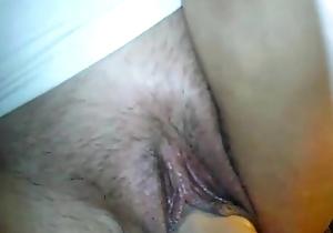 Progenitrix each keeps vibrator prevalent say no to heavy pussy