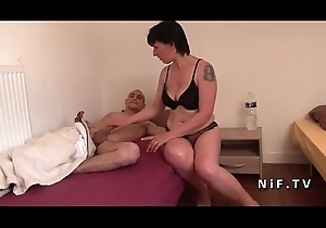 Amateur French nurturer seduces 2 younger men and gives say no to bore