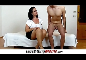 Prex plumper housewife Danielle facesitting a stifling old egg