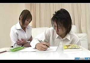 Contaminated _Hiyoko Morinaga uses say no to bosom to stroke make an issue of weasel words