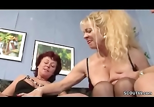 German Stiffener Denunciatory Aunt Masturbate with the addition of Be thrilled by Togehter