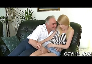 Hawt young honey fucked off out of one's mind old mendicant