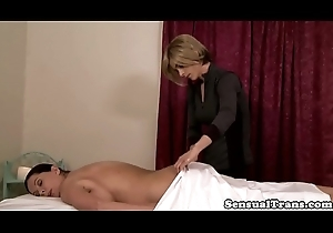 Trans nance masseuse creams on adult bawdy cleft