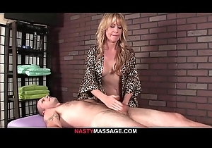Nina punishes jerk with a guestimated handjob