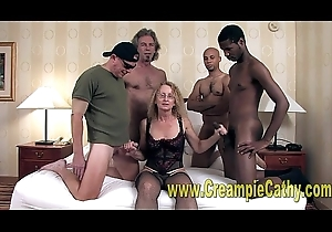 Cathy Receives Massive Creampies