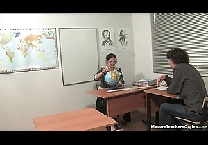 Russian matured teacher 5 - Irina (geography lesson)
