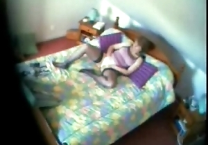 My ma stopped up masturbating surpassing bed. Close-mouthed web camera