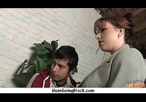 Mature MILF takes above heavy raven cock 10