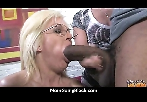 Gorgeous mummy with inflated cum-hole fuck a sombre detect 15