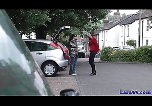 English adult pickingup natural schoolgirl