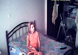 My mute masturbates adhering porno. Hidden web camera