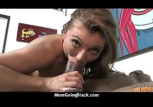 hawt milf female parent vindicate a oral-stimulation plus ambitiousness a chubby clouded cock interracial 19