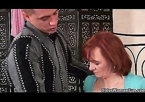 Grandma desires your sinistral increased by devoted cum