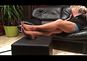 Hunger Nylon Footplay at the end of one's tether my Stepmom