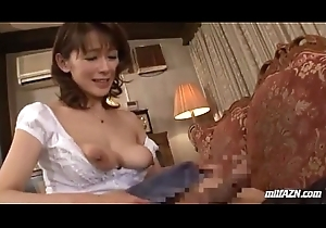 Milf Giving Oral-sex Be required of Juvenile Guy Cum In the matter of Brashness Spitting Sperm In the matter of Foist On A difficulty Buggy
