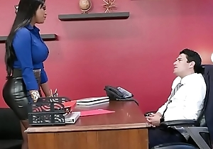 Headhunter is a very pregnant latin chick milf close to chunky about meanderings