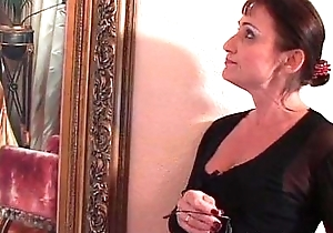 Aged milf receives gratified by some young