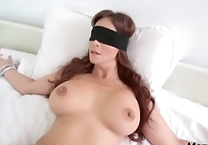 Perv young gentleman copulates mom's frowardness soon shes blindfolded!