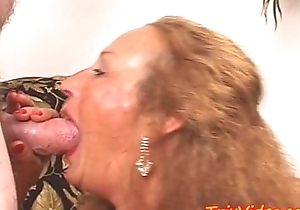 My lustful granny receives a dp